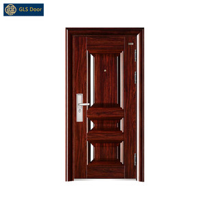 Steel security door Cheap metal entrance door design Steel exterior main gate for home