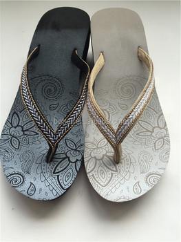 57b8b951ccd Cheap wholesale Custom made women EVA high heel sandals summer wedge flip  flops