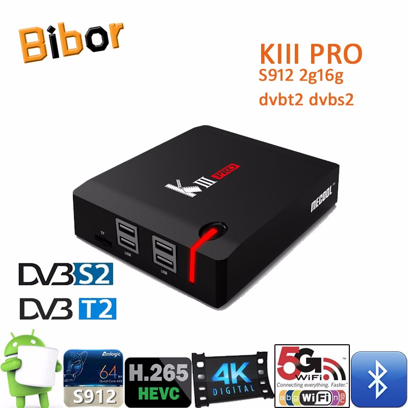 Kiii pro dvb s2 t2 4k satellite receiver ko-di android tv box 3gb ram 16GB Rom iptv set top box cline
