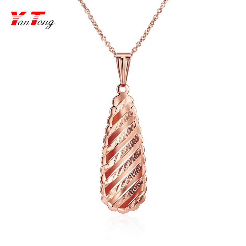 Vintage Gold Chain Jewelry Fashion Necklaces Ladies Fine Teardrop Necklaces
