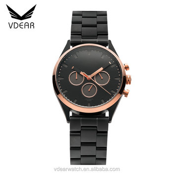 Blank Cheap Chronograph Watches Men Luxury Branded Stainless Steel Chain Watch Logo Custom Buy Watches Men Luxury Watch Logo Custom Men Watch Chrono