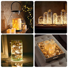 Alibaba China 2M 3M 4M 5M 10M battery powered color changing micro led string lights teardrop christmas lights