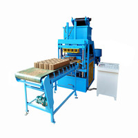 SYN4-5 automatic hydraulic compressed earth ecological lego brick press machine