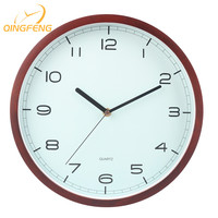 12 inch Modern office wall decor wooden frame simple modern style wall clock for meeting room
