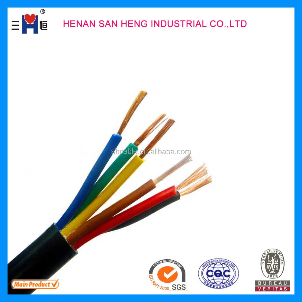 2015 HOT SALE Heavy Duty PVC Sheathed Flexible Power Cable 450/750v under ASTM standard for Cuba