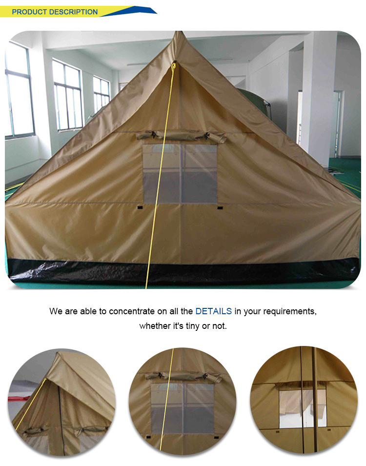Highly cost effective breathable comfortable camping sound disaster relief tent