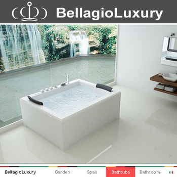 Square Drop In Bathtub,Two Person Hot Tub Massage Tub,Large Soaking ...