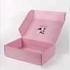 free sample wholesale luxury custom designed corrugated cardboard paper color printing pink shipping and storage mail boxes