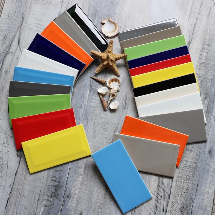 Beste Verkauf Kleine Standardgröße Bunte Wanddekoration Fliesen Blau - Kleine bunte fliesen