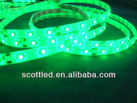 12v green 60leds waterproof IP65 green smd 3528 led strip for car lighting