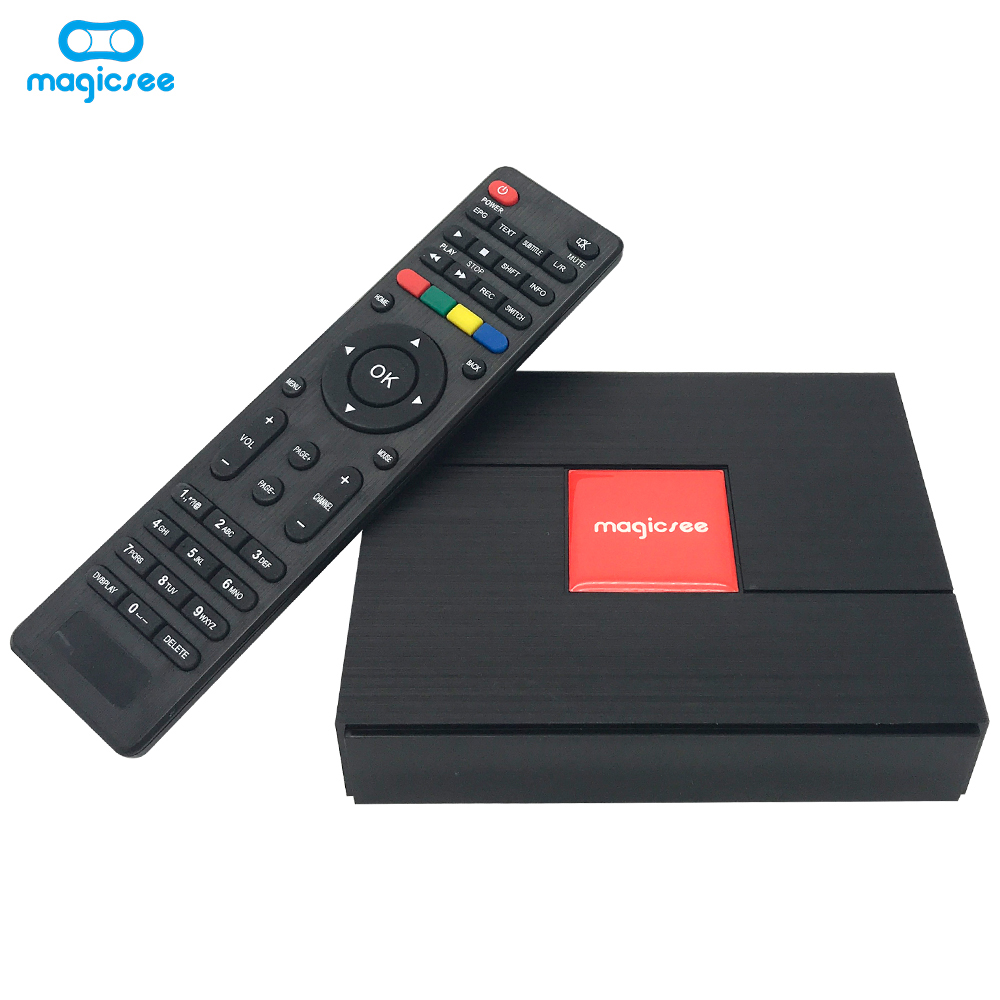 Magicsee C400 Plus Amlogic S912 Hybrid DVB S2 T2 C Android 4 K Satelit Receiver dengan 3 GB RAM 32 -Cash Wifi Powervu