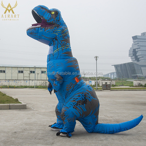 Funny dinosaur costume t rex inflatable colorful dragon costume