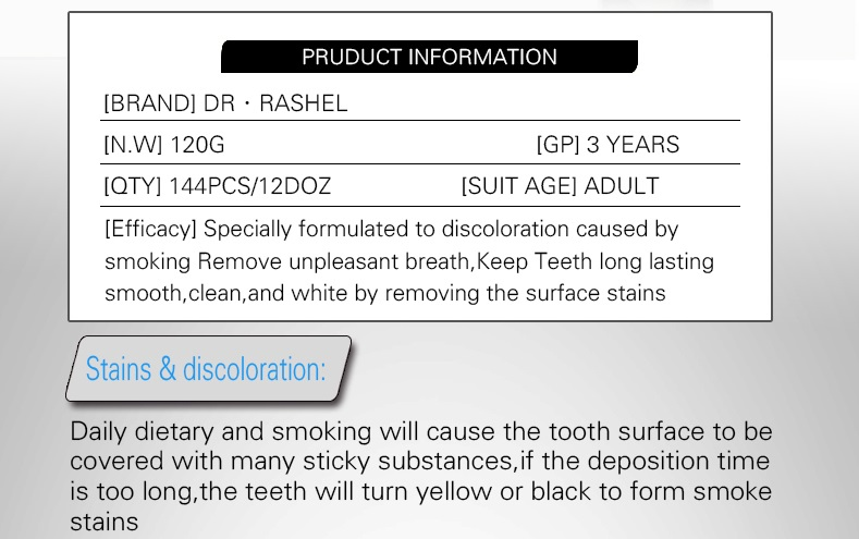 DR.RASHEL Bright Teeth Whitening Toothpaste