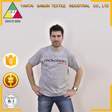 Most popular designed china export comfortable embroided men t shirt 100% supima cotton knit fabric