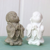 2.5 inch high small Sandstone Buddha Statue Cute Monk for home decor car decor