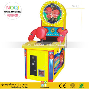 NQT-G05 CE standard coin operated boxing punch machine indoor arcade games