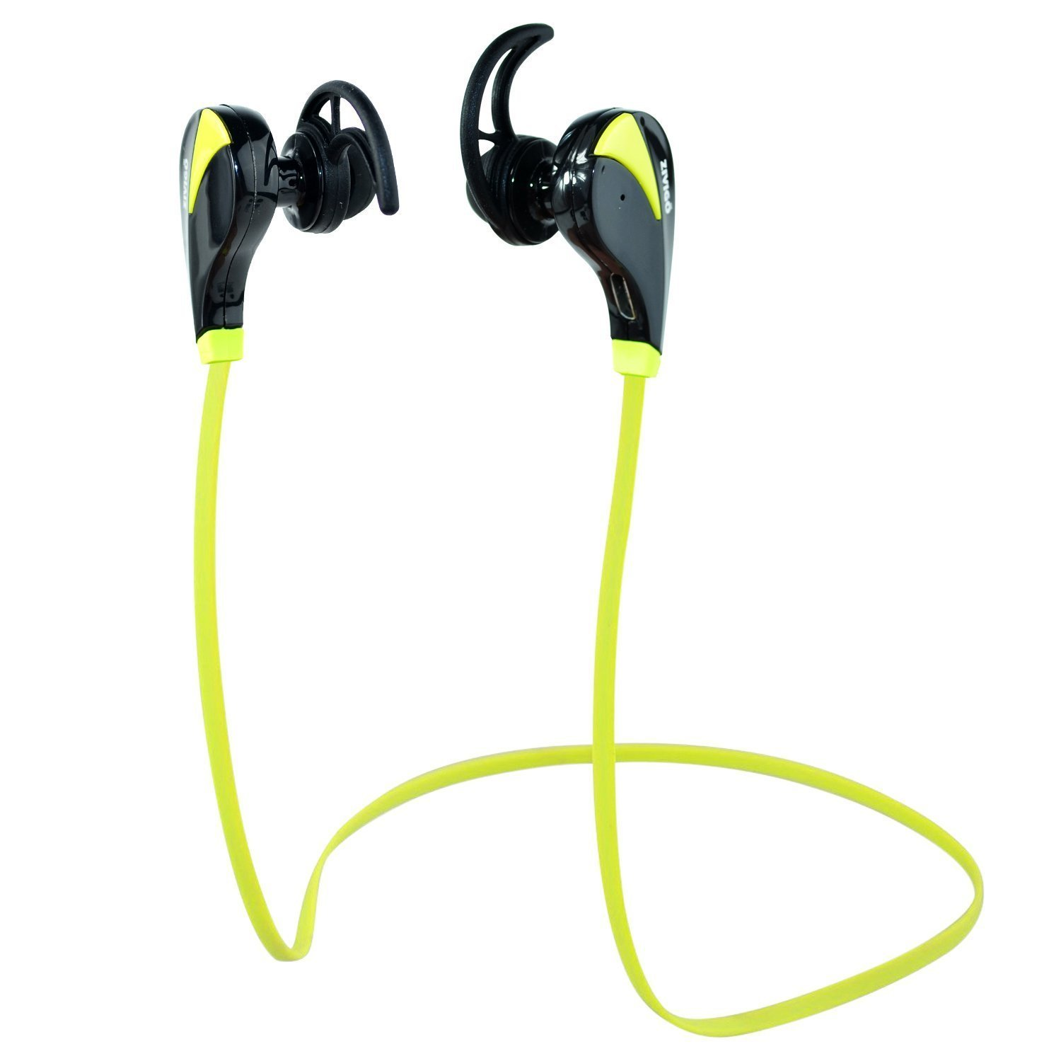 Bluetooth Headphones By Zivigo Lightweight Wireless Bluetooth Earbuds For Running, Bluetooth 4.0 with Aptx, Premium Sweat Proof Earbuds with Built in Microphone (Model ZV-600 Green)