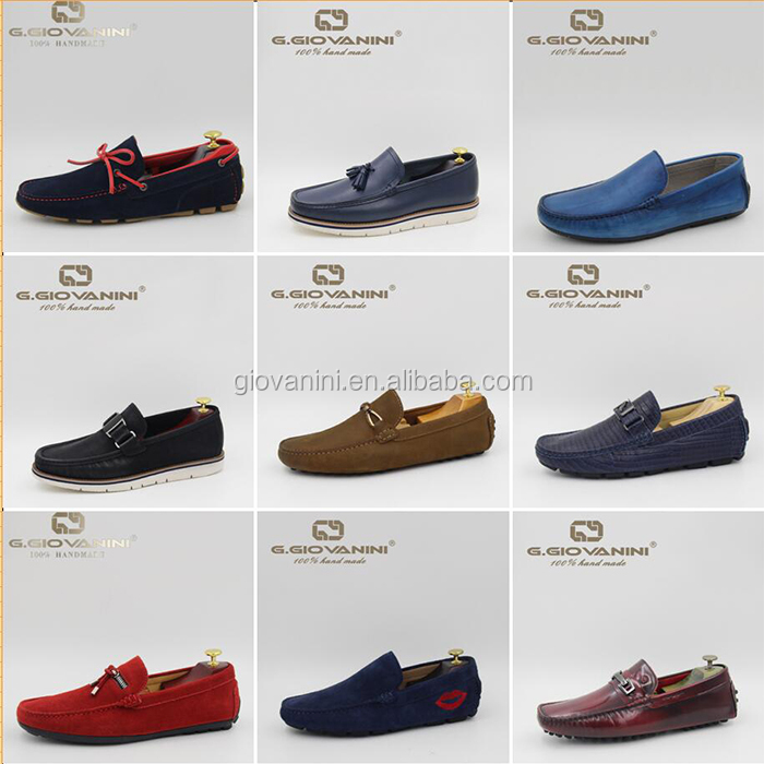 New fashion design hot sale high grade leather casual shoes men 2019 leather driving men shoes