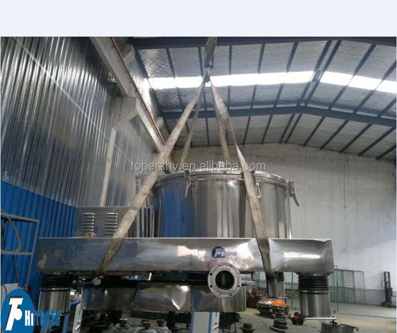 SS304 bag lifting upper discharge centrifuge in separation purification technology