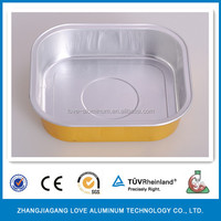 High Quality Food Grade Hot Sale Golden Coated Smooth Wall Wrinkle Free Aluminum Foil Casserole Dish Aluminium Foil Dishes