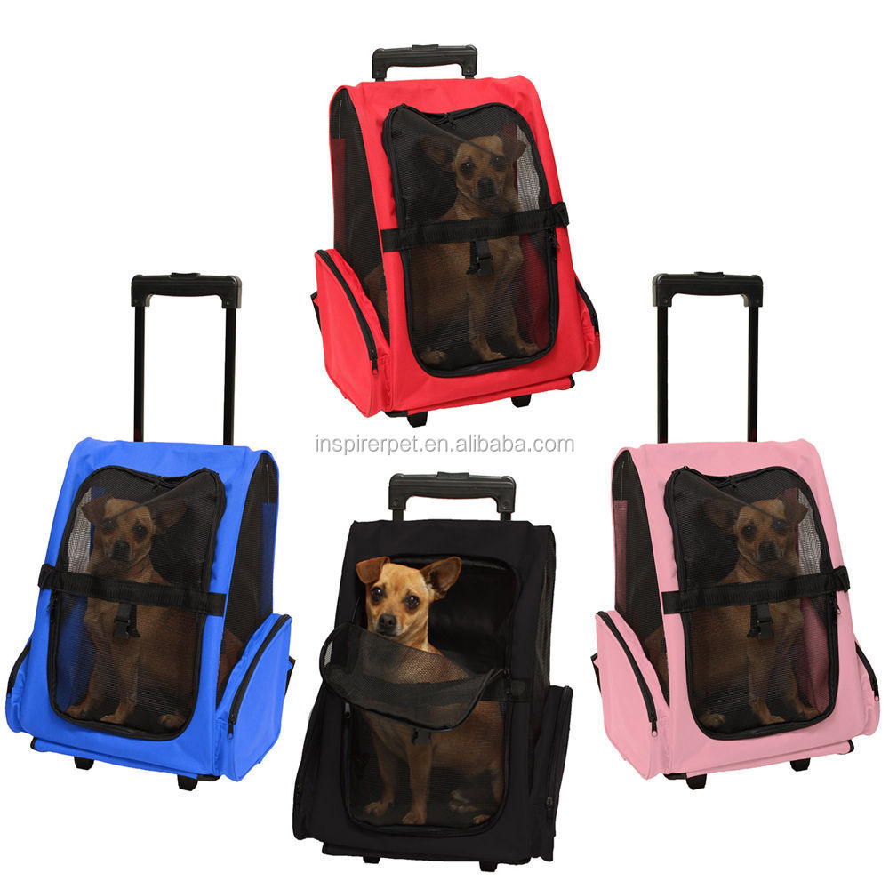 Oem 600d Oxford Airline Foldable Wheel Luggage Bag Pet