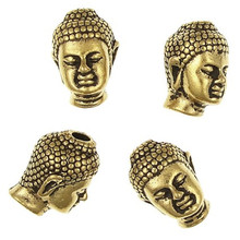 Wholesale fashion bronze 13m*10mm buddha head beads for beaded bracelet