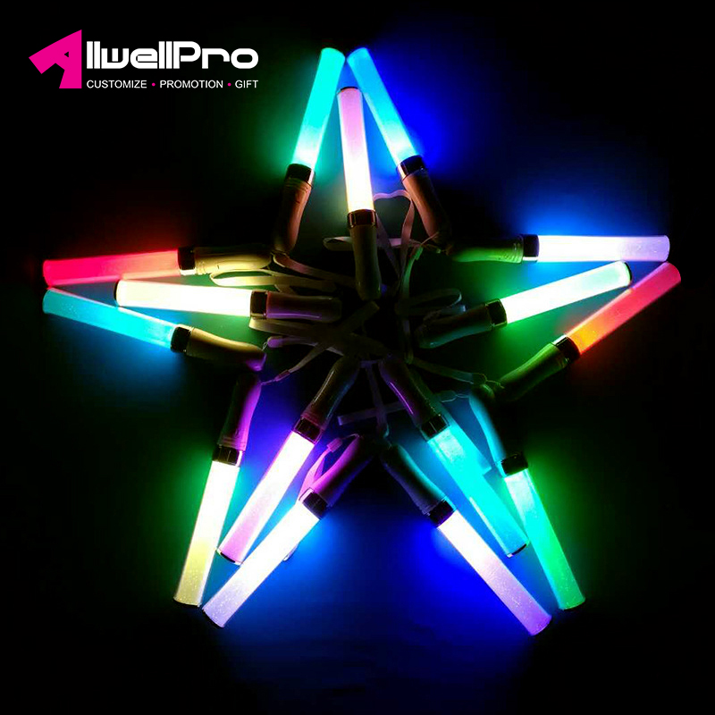 New Colorful Changing Led Stick Glow Flashing Length Cheering Concert Party Decoration