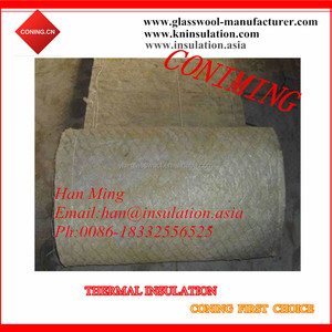 Insulation materials retail 80kg/m3 rock wool fireproof insulation blanket