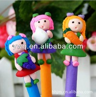 pen with shaped clip Novelty fruit PEN creative pen with zirconia