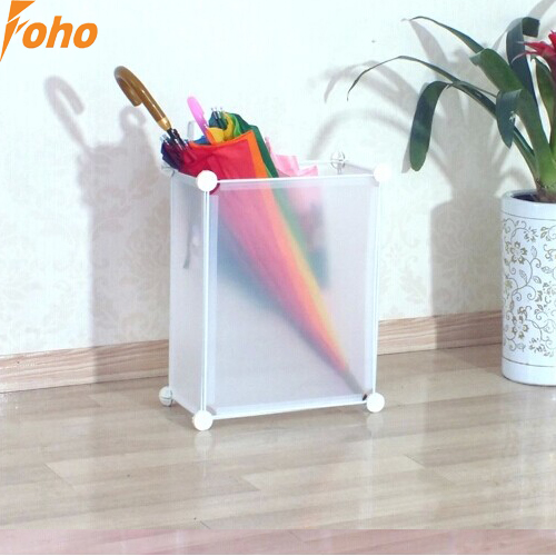 Frosted white color big size Umbrella stands storage box with plastic material (FH-AW0122)