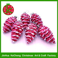 2017 new pinecone shape Christmas ornaments