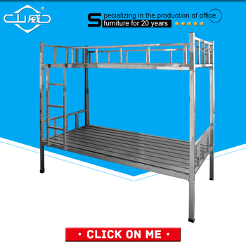 Single Folding Metal Bunk Bed Connector Frame With Double Decker