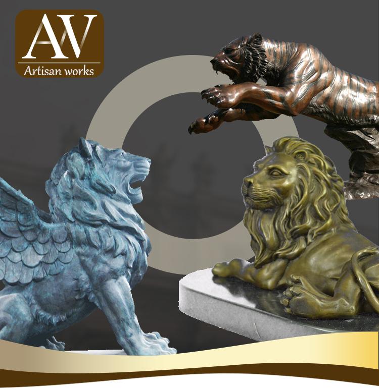 Parco e giardino scultura di decorazione animale moderno life-size bronzo cervo giardino statue