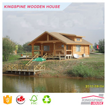 Prefabricated Solid Wooden Log House High Quality Cottage Made in China KPL-012