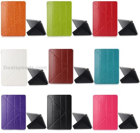 Transformer Crazy Horse Tri-Fold Leather Stand Case Cover For <strong>iPad</strong> Air 2/<strong>iPad</strong> 6