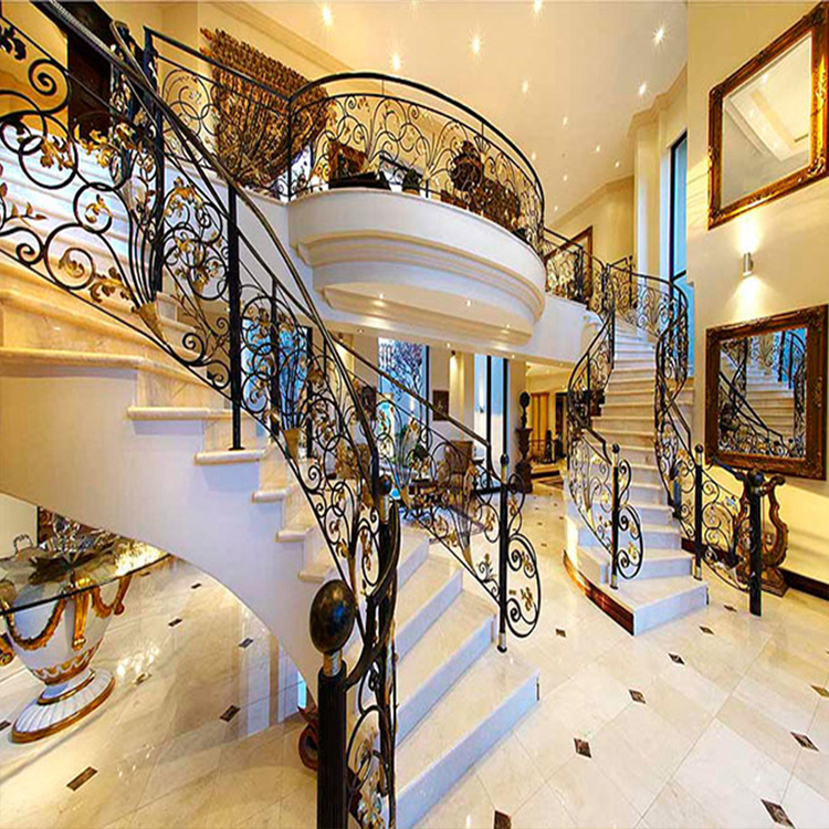 Outdoor Morden Wrought Iron Stair Railing Panels Design In India