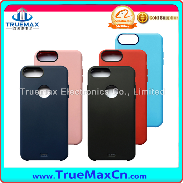 Wholesale TPU Full Back Cover PC Case for iPhone 7 7plus With LOGO Hole