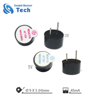 Magnetic transducer 9mm 9V 45mA audio buzzer