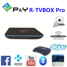 2016 high quality R-TVBOX Pro S912 2GB 16GB android tv box android tv dongle With Bottom Price KODI TV BOX