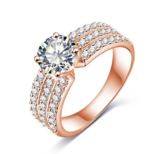 Trendy Silver Gold Color Ring AAA Zircon For Women Jewelry Gifts Rings Luxury Jewellery Accessories CRI0012