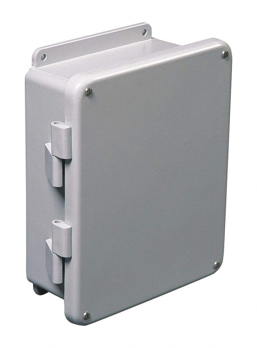 "14""H x 12""W x 6""D Non-Metallic Enclosure, Light Gray, Knockouts: No, Screws Closure Method"