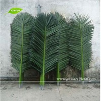 Artificial Palm Tree Leaves Plastic Feather Palm Leaves Wholesale Good Qality