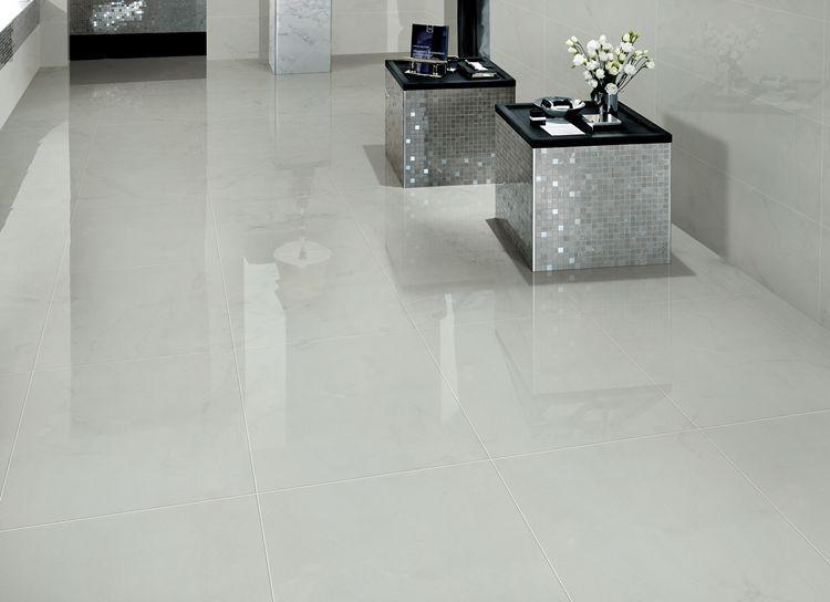 Sunnda di lusso allo stato puro grigio chiaro lucido for Mattonelle gres porcellanato lucido