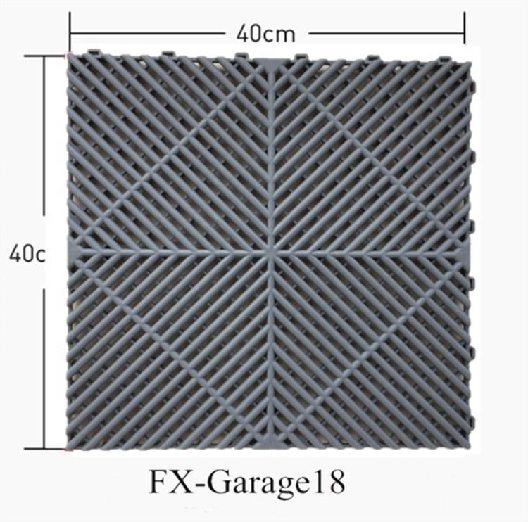 2019 Goedkope gebruikt pp grijpende garage vloertegels met putdeksels