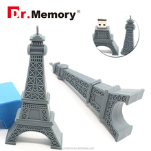 Dr.memory Eiffel tower SILICONE pendrive 1gb - 64gb accept paypal,64 GB USB 2.0 Flash