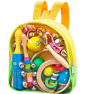 Kids Musical Instruments Toddler Musical Toy Storage Backpack