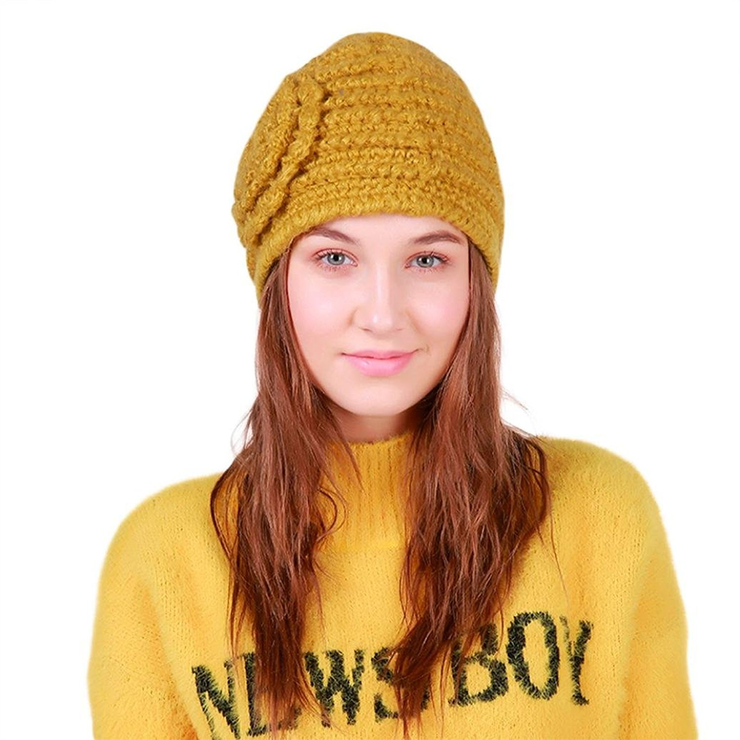 1924a4a0460 Get Quotations · Hunputa Women Hat Winter