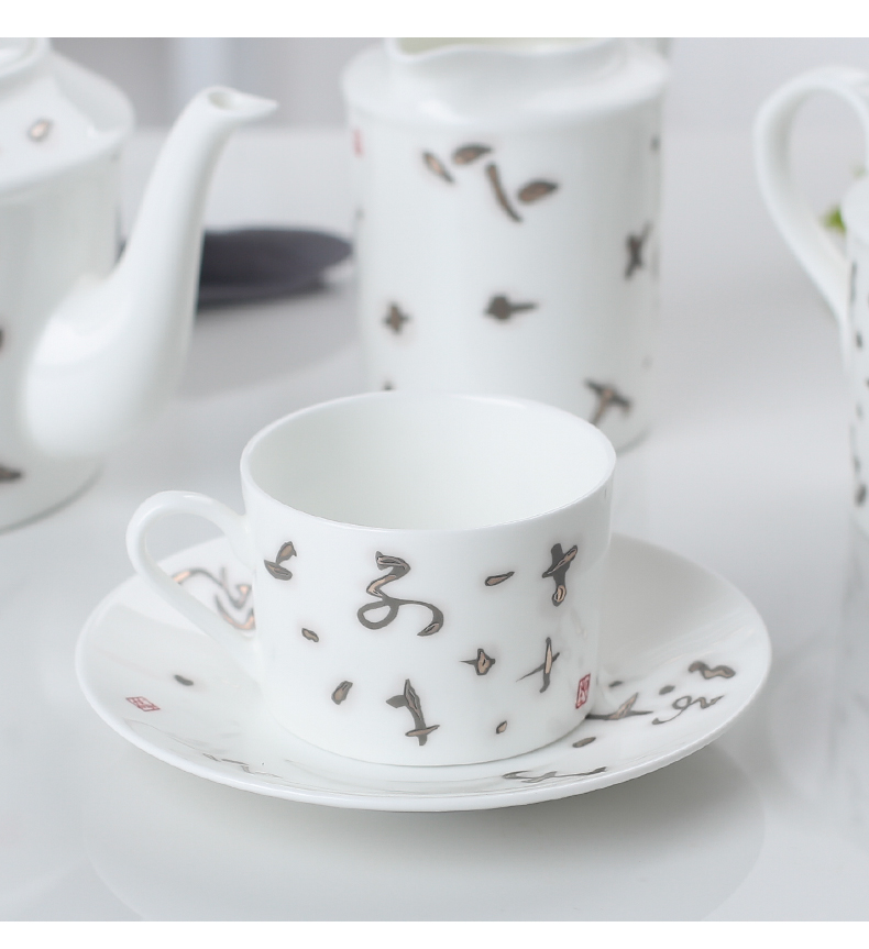 15 pcs antique high quality bone china royal japanese porcelain ceramic turkish tea coffee set europe pot cup with saucer sets