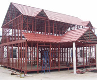 Simple and Fast Installation Metal Truss Prefabricated Steel Frame Metal Structure Church Building