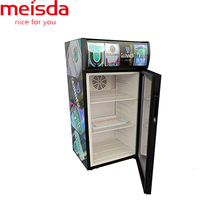 SC80B 80L vertical small coke cooler refrigerator equipment with lampbox